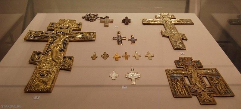 старообрядческие кресты, нательные крестики, правильные, форма, старинный,