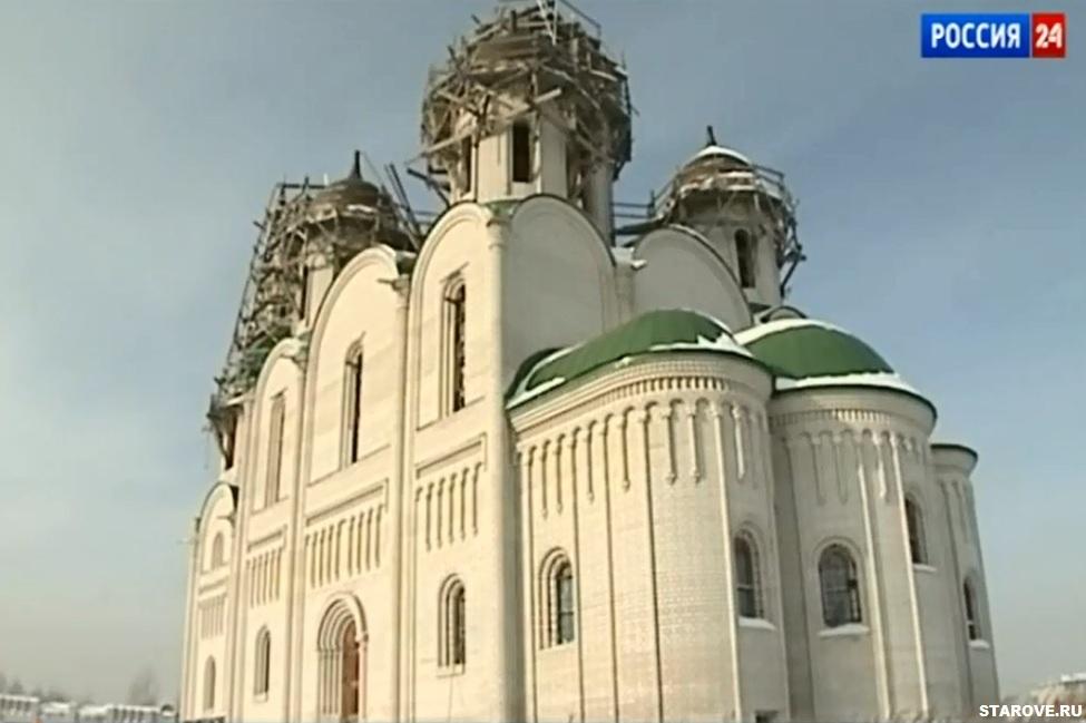 Репортаж о строительстве самого большого в Барнауле старообрядческого храма на пожертвования компании старообрядца А. Холмогорова