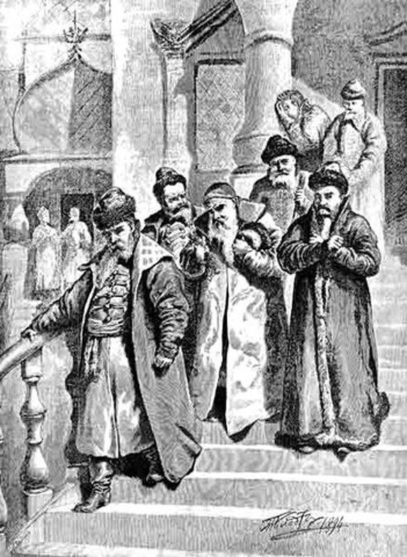 гонения, бояре, Пётр I, обрезание бород, указ Петра