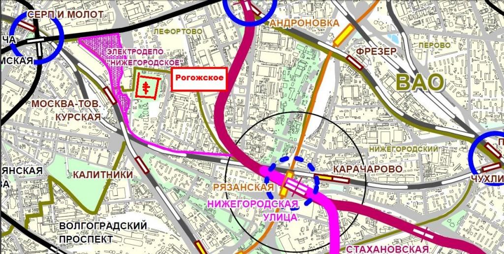 Метро Нижегородская, Текстильщики