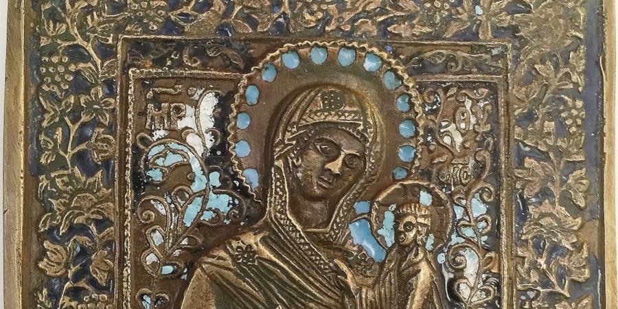 Сирия, Дамаск, Комсомольская Правда, Дмитрий Стешин, староверы, старообрядцы, литье, икона, Тихвинская, старообрядцы, медная пластика, образ, Богородица