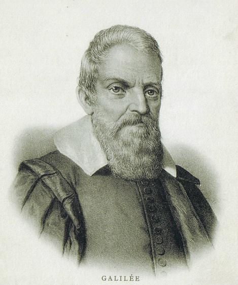 Галилео Галилей. Почтовая карточка конца ХIХ века
