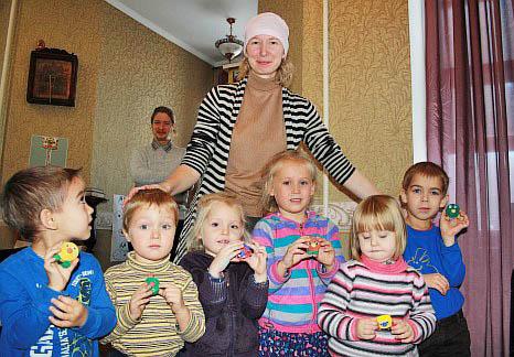 Дети в старообрядческом детском садике