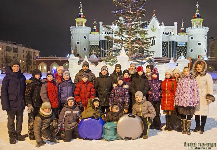Посещение ледового городка