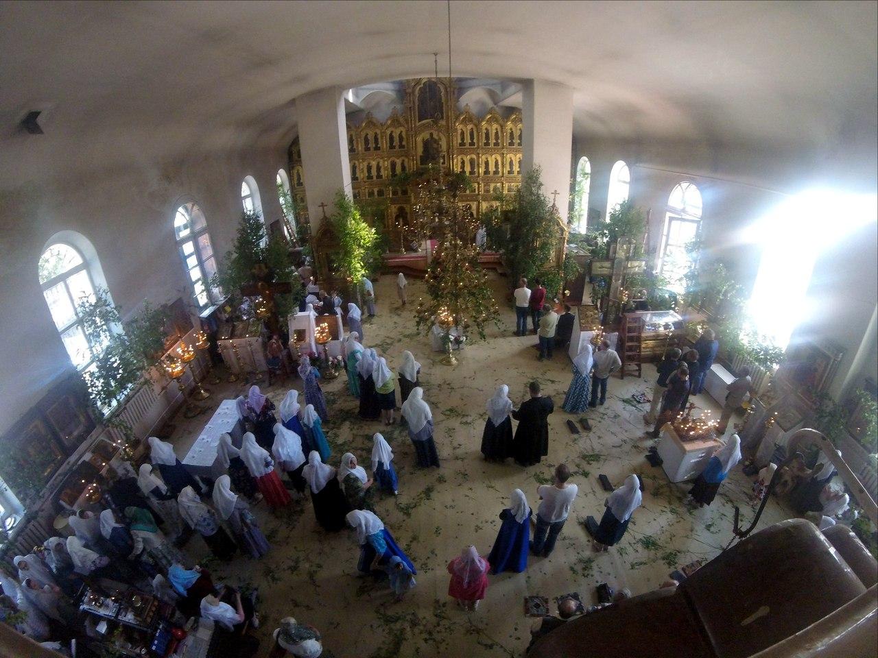 Троица,Пятидесятница, служба у старообрядцев, Ржев