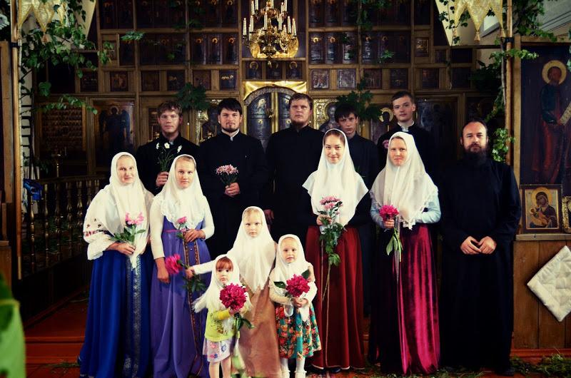 Троица,Пятидесятница, служба у старообрядцев,Нижегородское Большое Мурашкино