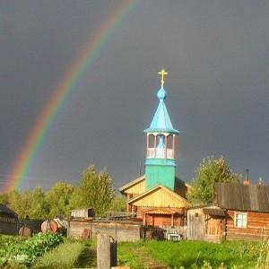 Старообрядческий храм во имя св. Николы Чудотворца в селе Гарь Томской области