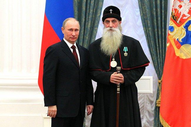 Владимир Путин, Митрополит Корнилий, старообрядцы, награждение, власти, орден