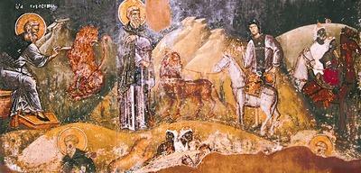 Фреска церкви Святого Николая Орфаноса в Салониках относится к 1309—1319 годам.