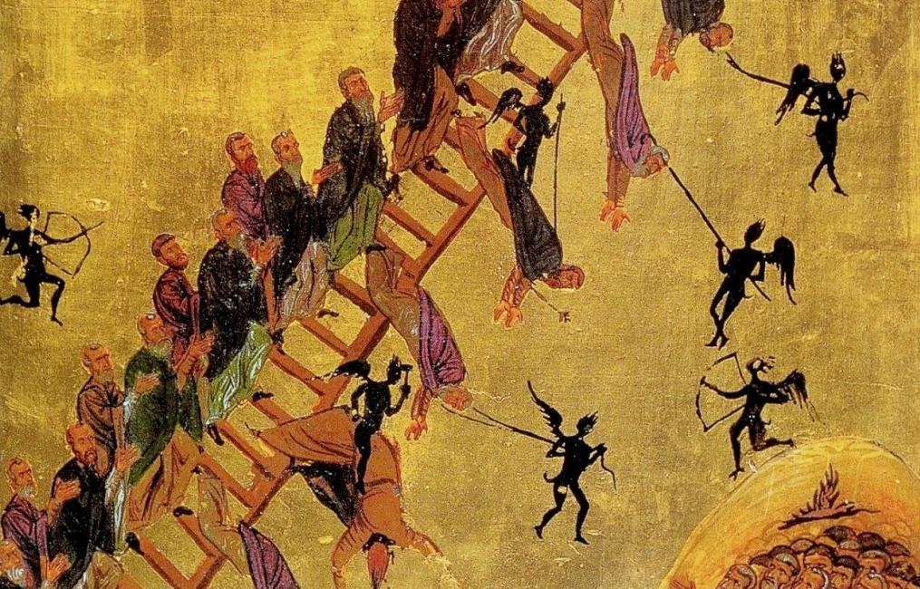 Фрагмент иконы Видение преподобного Иоанна Лествичника. Монастырь св. влк. Екатерины. Конец XII