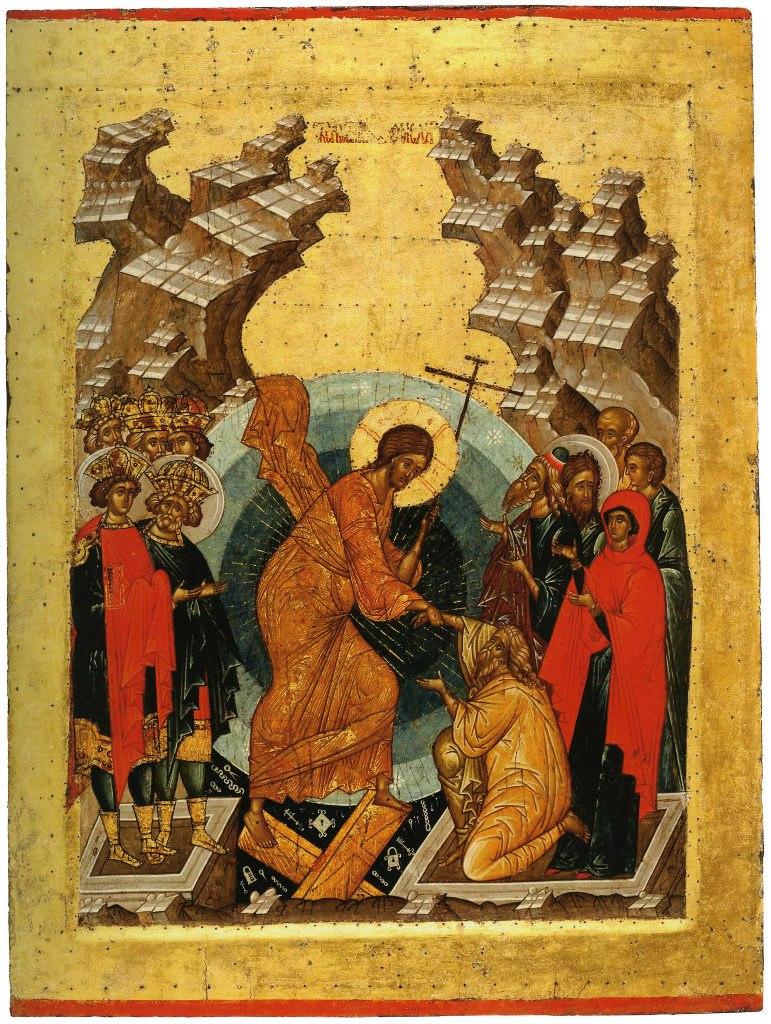 Сошествие во ад. Из Успенского собора Кирилло-Белозерского монастыря. Ок. 1497 г.