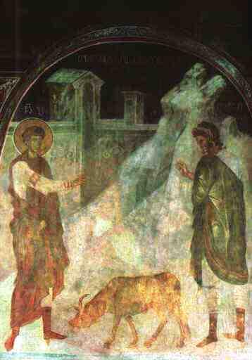 Дамиан. «Св. Георгий воскрешает павшего вола», Грузия