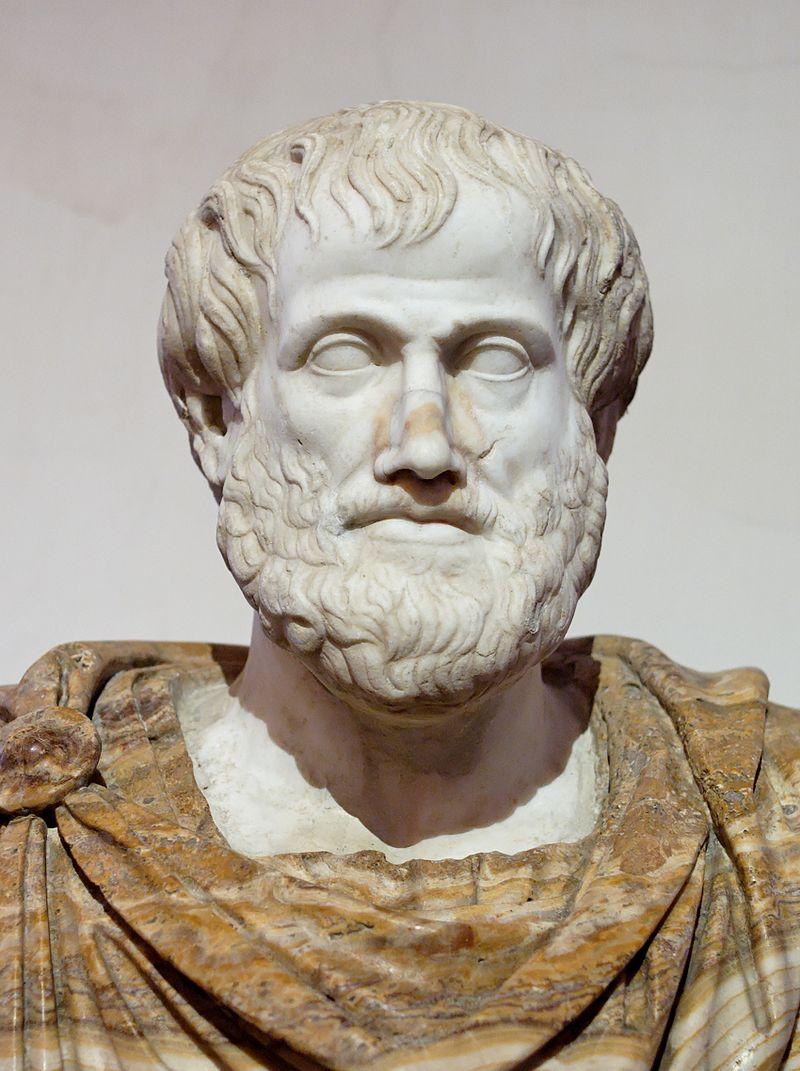 Бюст Аристотеля, римская копия оригинала Лисиппа. Дата рождения: 384 до н. э.