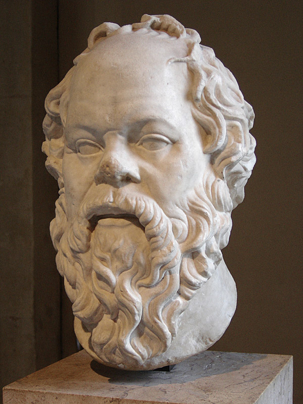 Портрет Сократа работы Лисиппа, хранящийся в Лувре Дата рождения: около 469 г. до н. э.