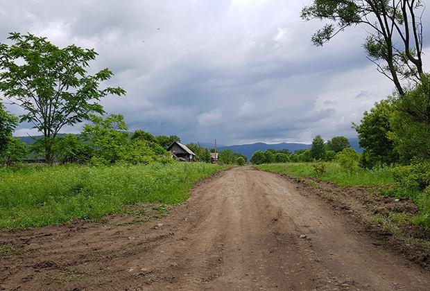Въезд в село Дерсу Фото: Юрий Васильев