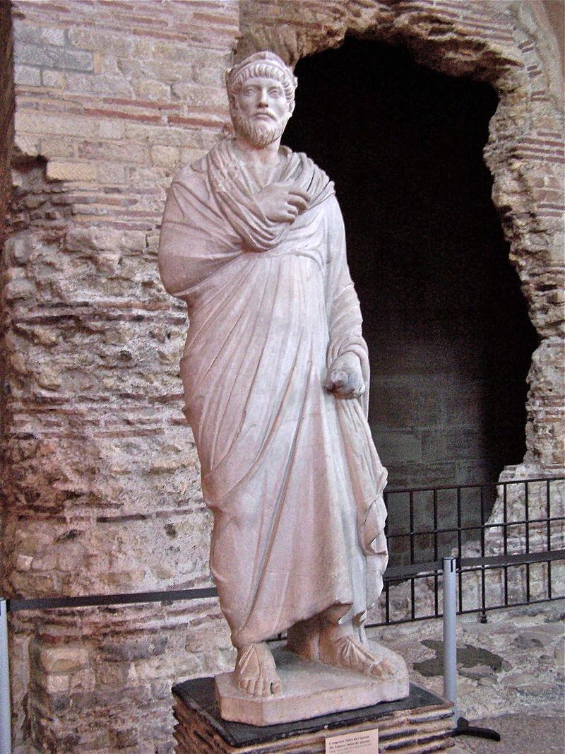 Скульптурное изображение Юлиана Отступника из парижского Музея Средневековья.