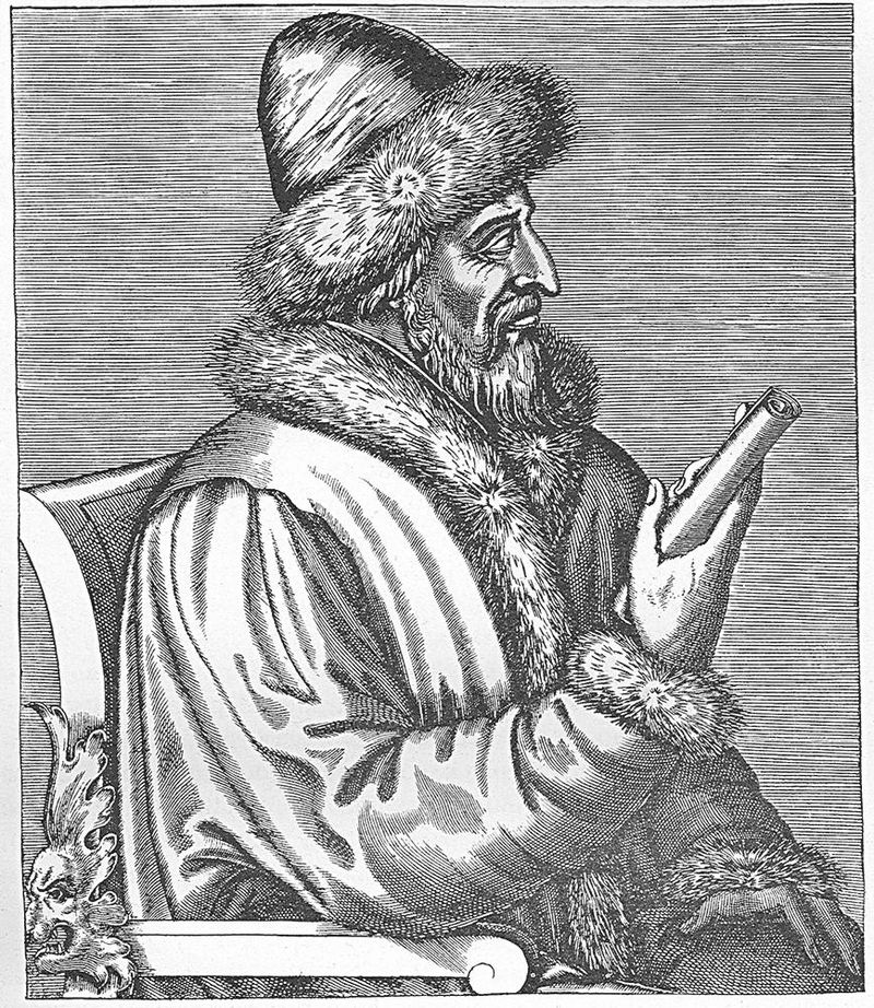 Василий III на французской гравюре Андре Теве