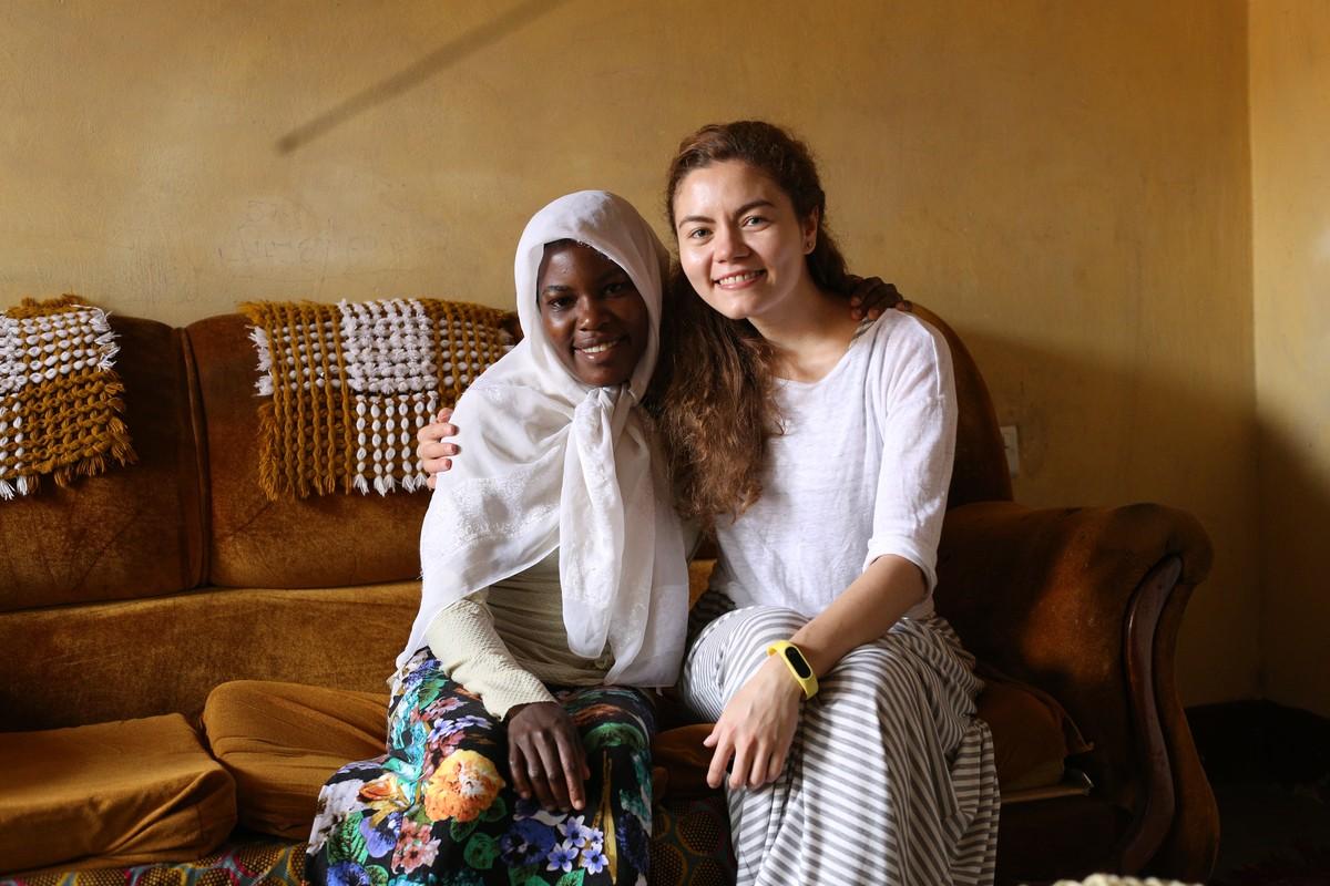 Беседа с Прасковьей Намубиру у Матушки дома