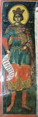 Мч. Гаведдай. Тзортзи (Зорзис) Фука. Фреска. Монасырь Дионисиат. Афон. 1547 г.
