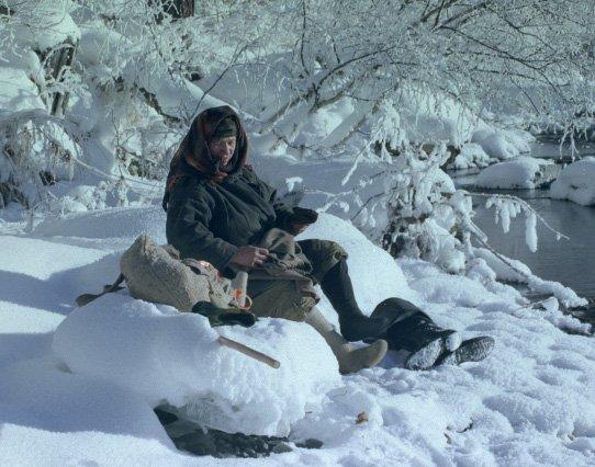 С.Усик. Агафья Лыкова. На снегу
