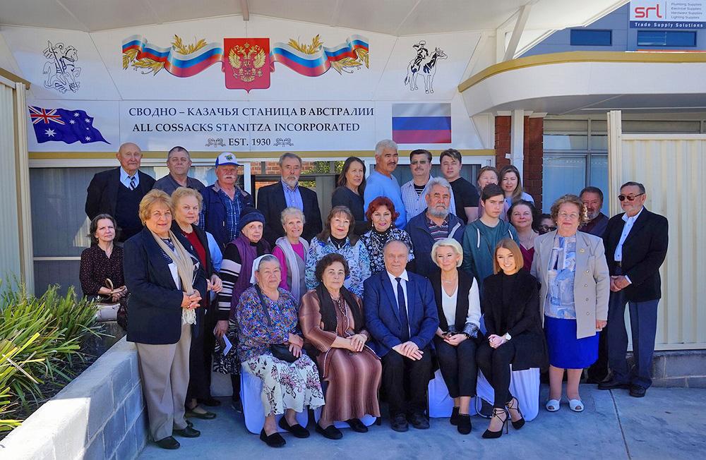 Коллективная фотография на память о первой встрече старообрядцев в музее.