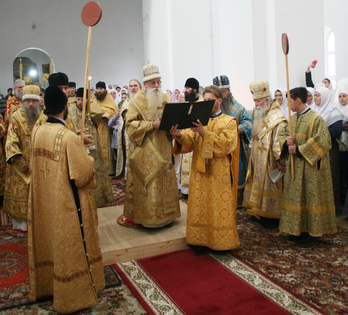 Во время освящения храма