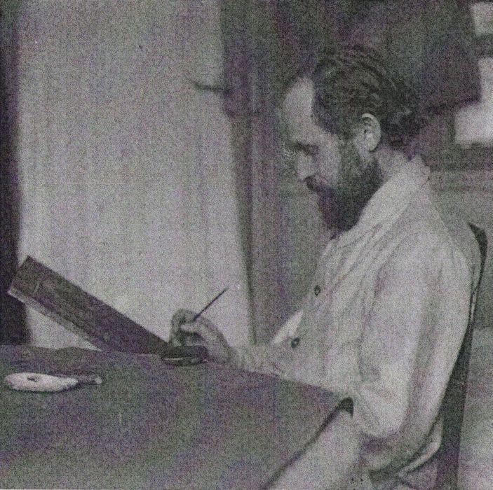 Иконописец П. М. Сафронов Париж 1931г. Архив Гуверовского института. Собрание М. Д. Врангель