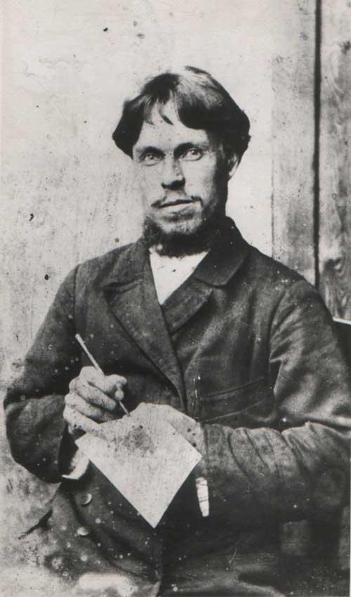 И. Г. Блинов во время работы в мастерской Никифорова в г. Горбатове. 1900 г.