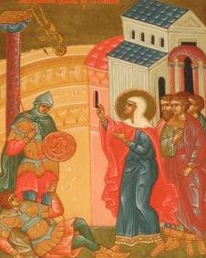 Сокрушение мученицей Татианой идола