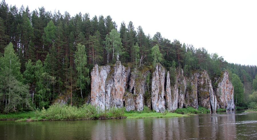 Река Чусовая, 100 км от Екатеринбурга