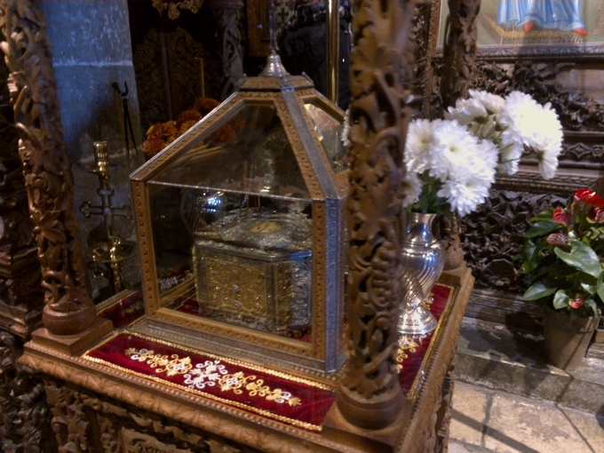 Честная глава священномученика Харлампия. Монастырь Святого Стефана в Метеорах.