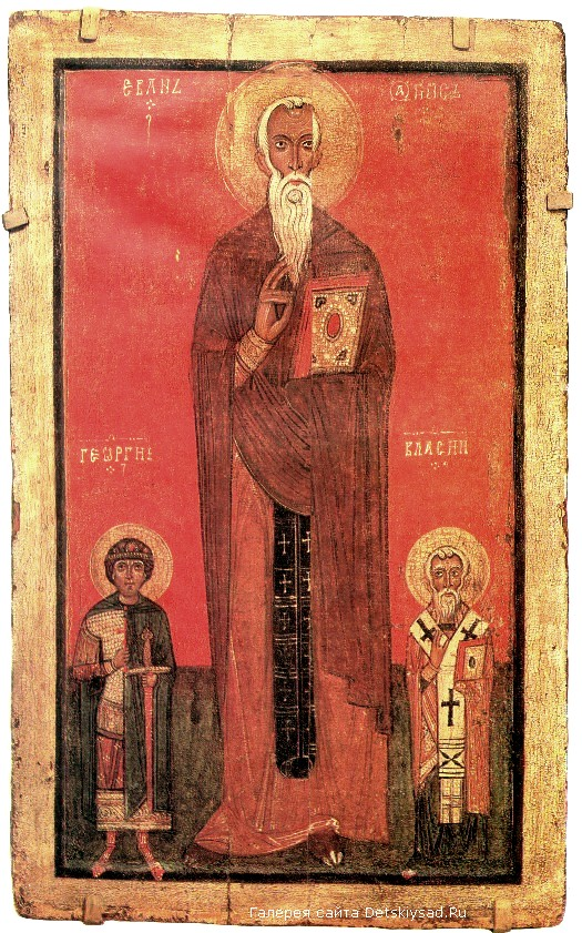 Икона «Иоанн Лествичник, Георгий и Власий»