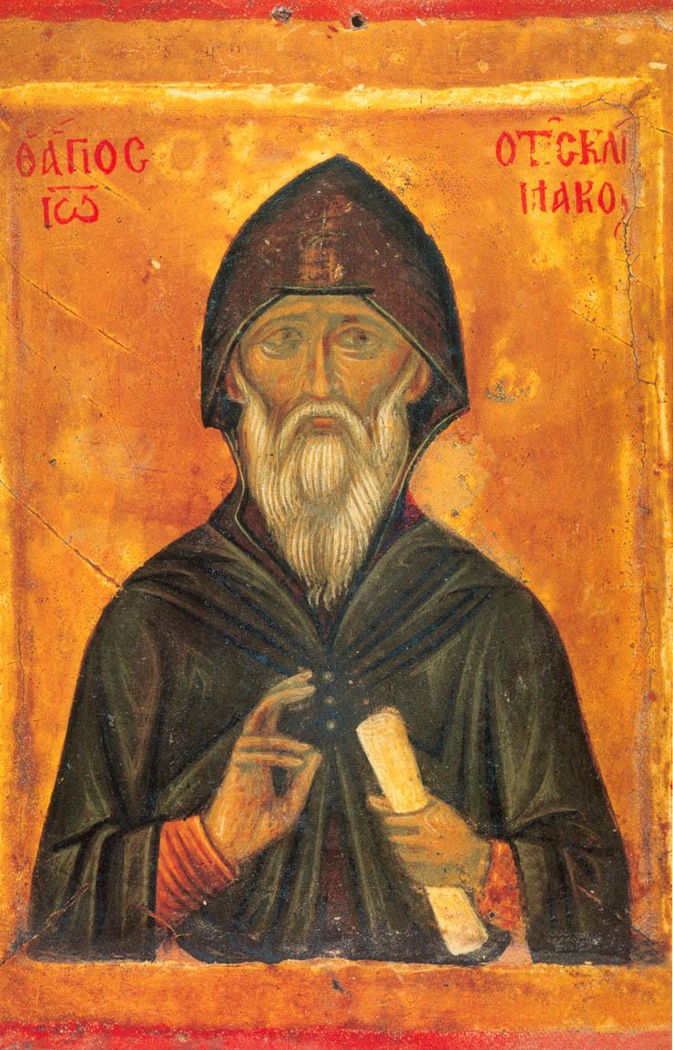 Прп. Иоанн Лествичник. Икона. Византия. Конец XIV - начало XV в. Монастырь св. Екатерины на Синае.