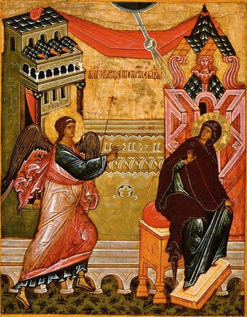 Благовещение Пресвятыя Богородицы. Великий Новгород, XV в