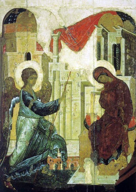 Благовещение, Андрей Рублев, 1405г