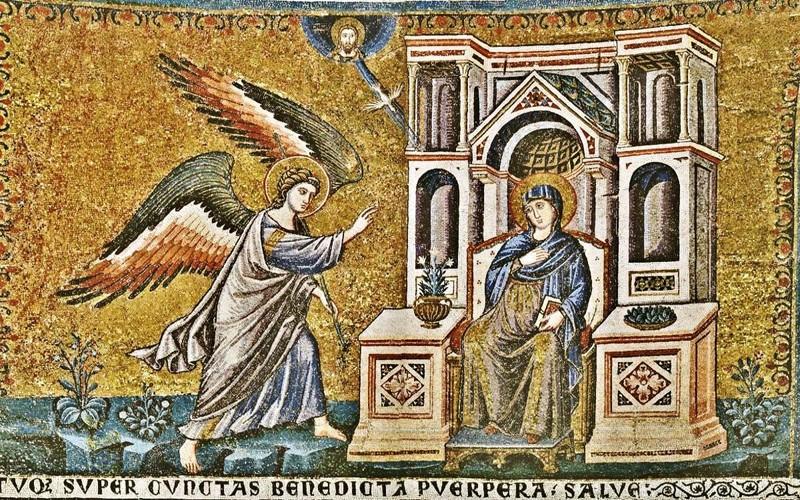 Пьетро Каваллини, Благовещение, базилика Санта-Мария-ин-Трастевере, 1291 год
