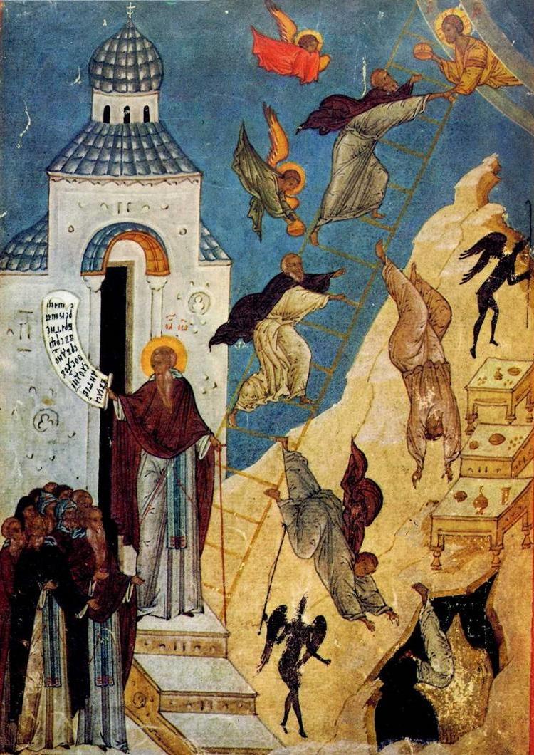Видение преподобного Иоанна Лествичника. XVI век